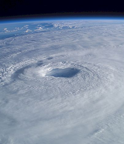 Hurricane Isabel. Photo: Astronaut Ed Lu, International Space Station.